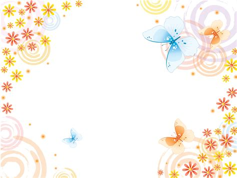 Background Wedding Animasi by Butterflies With Pink Flowers Powerpoint Templates