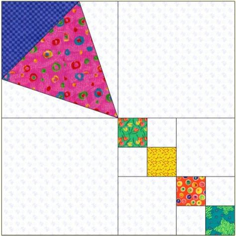 quilt pattern kites block of the month march 2006