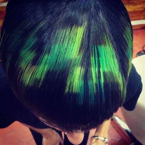 hair dye 2015 pixelated hair is the newest cutting edge trend bored panda