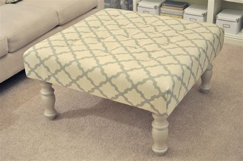 diy upholstered ottoman diy upholstered ottoman coffee table wooden diy turn