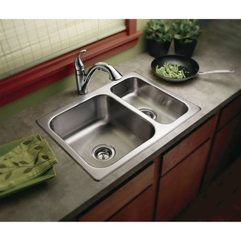 moen g202720 2000 series stainless steel drop in