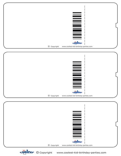 Blank Ticket Template Mughals Blank Ticket Template