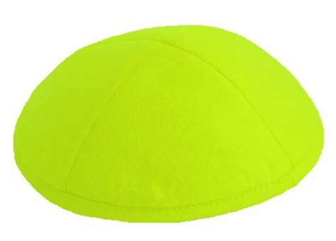 lime green felt kippah item fli felt kippot skullcap com