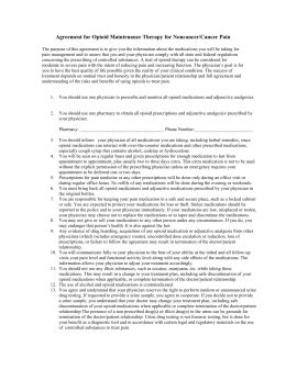 narcotic contract template narcotic management agreement