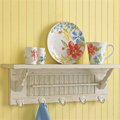 kitchen wall shelves with hooks white wall shelf with
