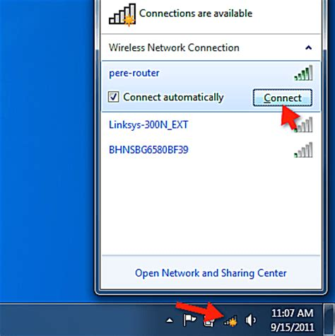 view available wireless networks & connect