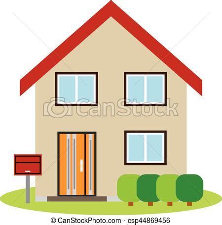 casa clipart clip vectorial de frente casa elevaci 243 n csp44869456