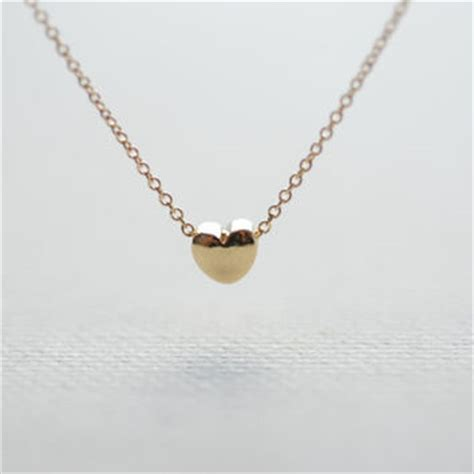 gold necklace tiny necklace from heirloomenvy