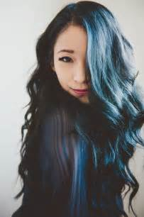 navy hair color navy blue and black soft curls waves i reeeally want