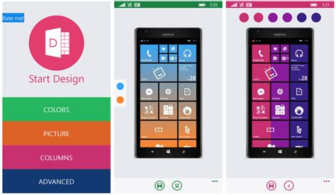 home design app windows phone start design add a little color to your windows phone