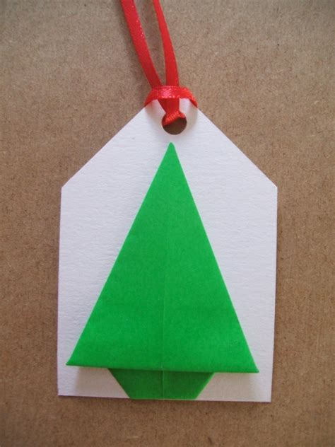 Origami Gift Tags - simple origami trees the craft fantastic