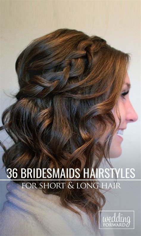 Hairstyles For Bridesmaids With Hair by 172 Best Bridal Hair Braids Images On