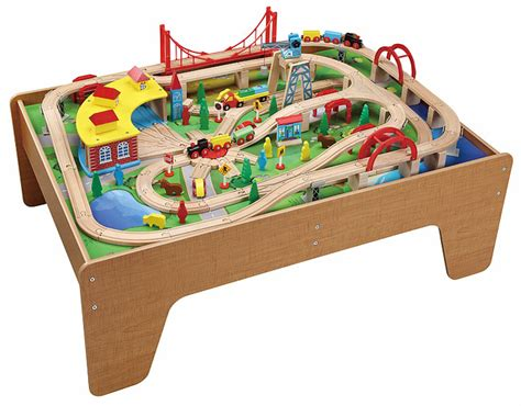 brio train with drawers 130pcs wooden train set with activity 50050 brio