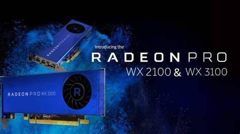 Vga Radeon Firepro Wx 5100 8 Gb radeon pro wx 3100 e wx 2100 polaris 12 professionale