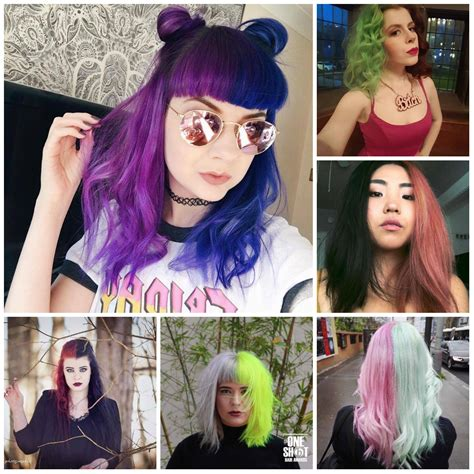 half and half hair colors to try now best hair color