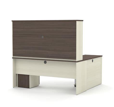 modern urban computer desk 2 l shaped left caretta modern l shaped desk with hutch in white chocolate