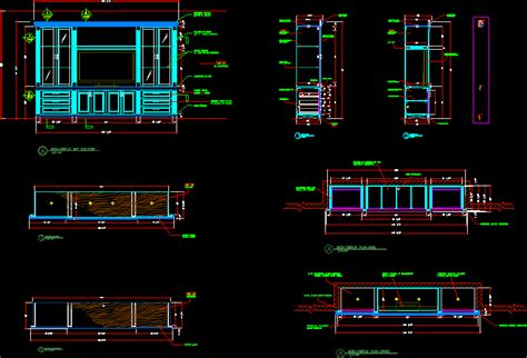 media wall unit dwg section  autocad designs cad