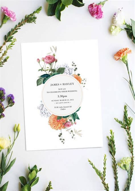 Wedding Invitation Cards Designs Uk by 25 Best Ideas About Floral Wedding Invitations On