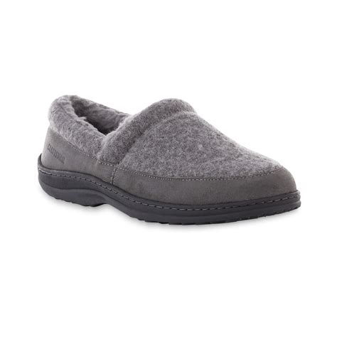 sears mens house slippers craftsman men s jake gray indoor outdoor slipper shoes men s shoes men s slippers