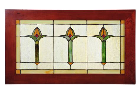 meyda 97961 arts crafts bud trio wood frame stained