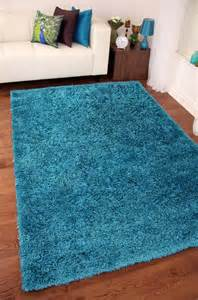 tapis shaggy bleu turquoise stockholm teal blue shaggy rugs small large thick soft