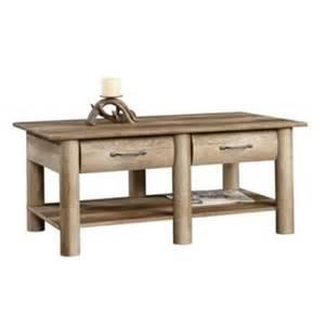 sauder boone mountain coffee table in craftsman oak