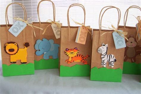 Baby Shower Goody Bags Ideas by Reserved For Tu Zoo Animal Favor Bags Circus