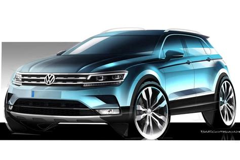 tiguan volkswagen 2016 2016 volkswagen tiguan previewed with official sketches