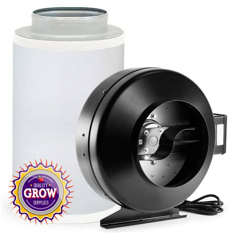 Grow Room Fans by Hydroponic Grow Room Odor Kit 8 Quot Inline Fan