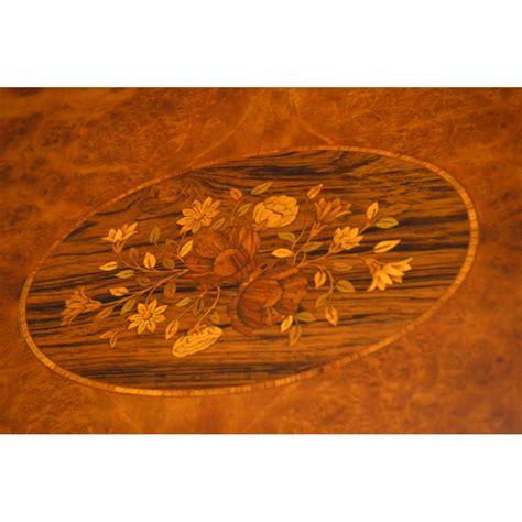 intarsien tisch antiker couchtisch sofatisch mit intarsien