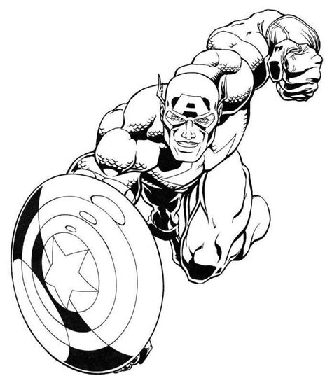 marvel coloring pages marvel captain america coloring pages lineart