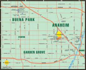 anaheim california maps map of anaheim buena park garden grove