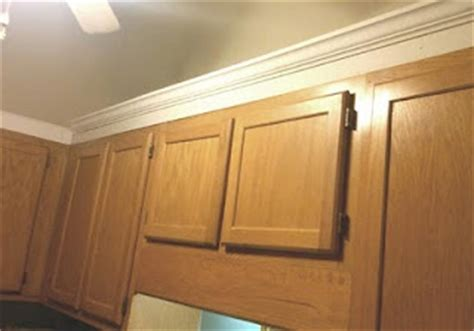adding crown molding to cabinets kitchen