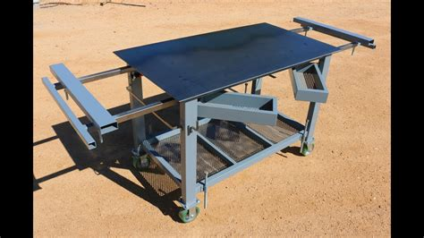 how to build a work table welding table workbench build how to