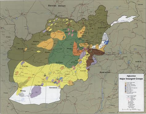 map of soviet afghan war mujahideen and anti taliban groups 1980s 2001 afghanistan
