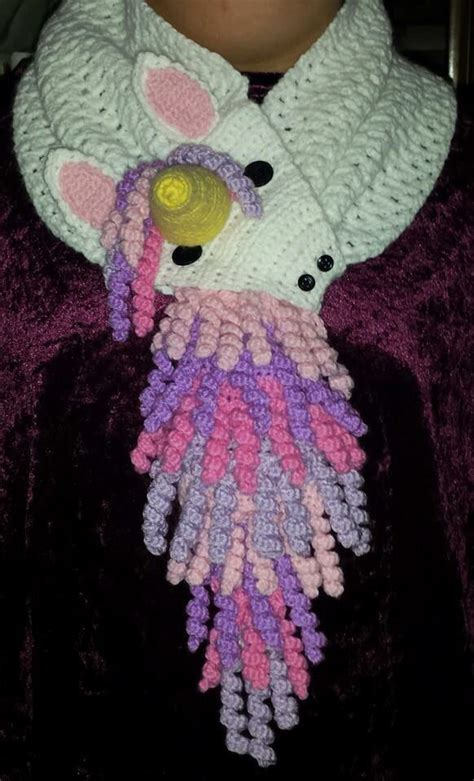 unicorn scarf pattern super cute scarf inspiration curly haired crochet