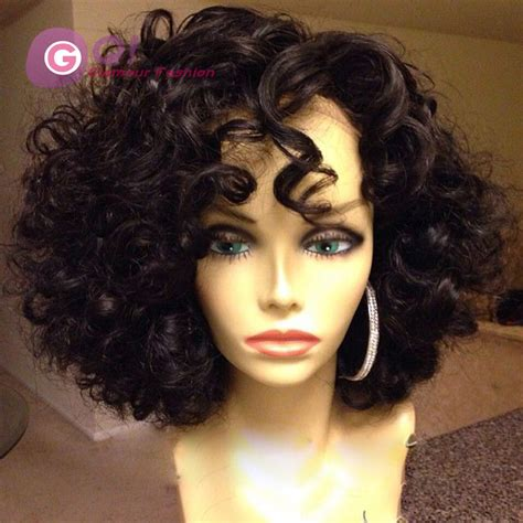 2016 new 7a grade human hair lace wigs curly