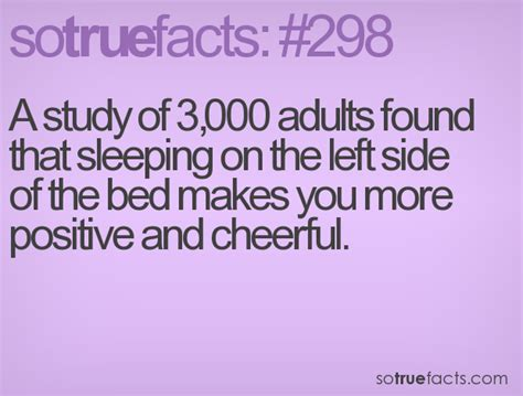 left side of the bed sleeping on the left side of the bed makes you more