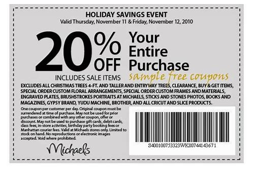 michaels craft store coupon 2018