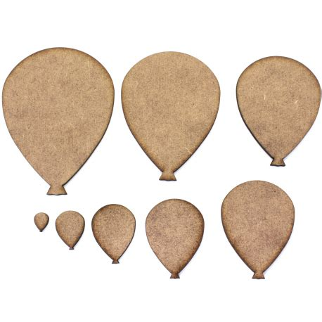 Shape Balloon balloon mdf craft shapes