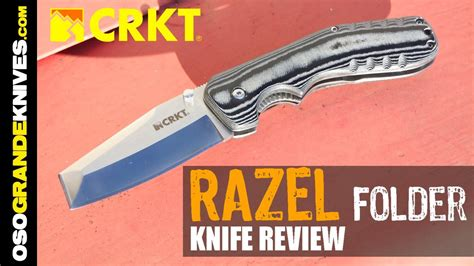 Razel Maxy crkt folding razel utility knife review osograndeknives