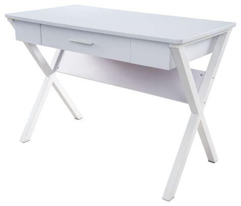 computer desk legs kassidy white crossed leg computer desk contemporary