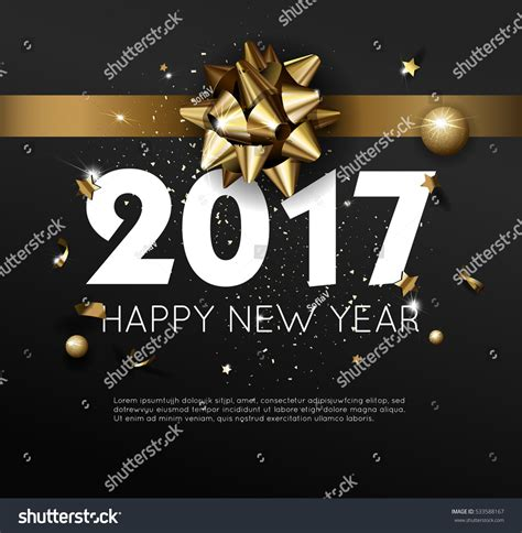 luxury new year happy new year 2017 greeting card or poster template flyer