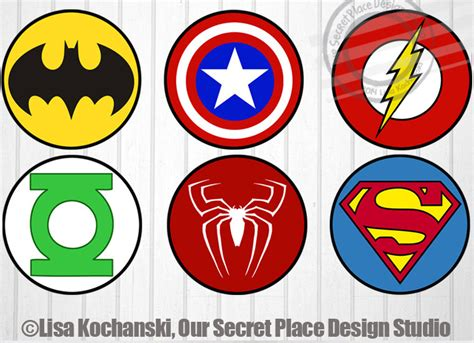 printable marvel stickers instant download superhero logo stickers superhero stickers