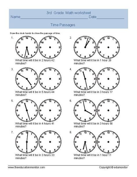 elapsed time worksheets telling time worksheet for third