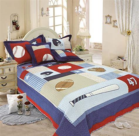 bargain bedding crazy mall baseball bedding children s quilt comforter set