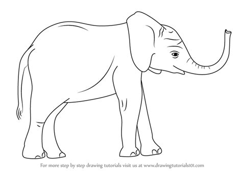 how to draw a doodle elephant learn how to draw a baby elephant zoo animals step by
