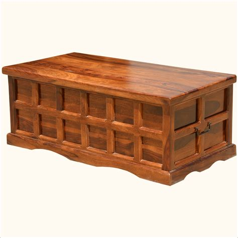 Handmade Wooden Chest - wooden chest coffee table solid wood handmade traditional