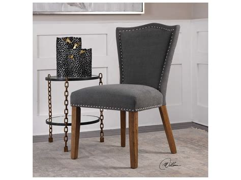 Uttermost Dining Chairs Uttermost Ruhls Gray Espresso Dining Side Chair Chair