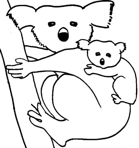 barbie koala coloring page free koala animales coloring pages